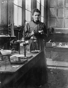 "absurdiskas-brutalus-avangardas: "" ""  Marie Skłodowska Curie (1867-1934), polish (by birth) -french (by marriage) physicist, chemist in her first laboratory installed in a shed of EPCI, rue Lhomond. Paris (Vth arrondissement), 1896-1905. © Albert..."