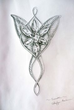 Evenstar by ShaylynnAnn.deviantart.com on @deviantART Ring Tattoos, Star Tattoos, Body Art Tattoos, New Tattoos, Cool Tattoos, Tatoos, White Tattoos, Elf Tattoo, Lotr Tattoo