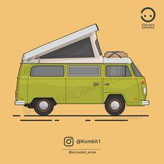 Blog di archivio delle illustrazioni VW di Kombit1, pagina instagram