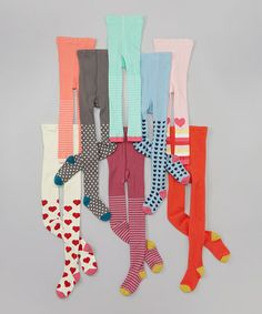 Love this Red & Blue Cotton Tights Set by See Kai Run on #zulily! #zulilyfinds