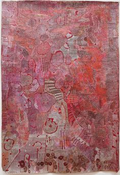 """Huguette Caland B1931 Beirut -- the Paris of the Middle East at this time.   34""""x49.5"""" mixed media on linen, 2010"""