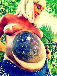 Painted moon belly goddess.