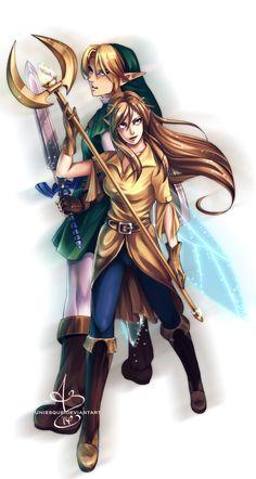 Got your back, Link, The Legend of Zelda artwork by Uniesque.