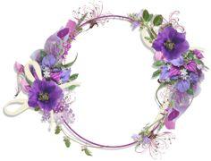frames and borders Purple Flower Round Frame Frame Floral, Flower Frame, Flower Art, Flower Backgrounds, Wallpaper Backgrounds, Bing Bilder, Gallery Frames, Borders And Frames, Round Frame