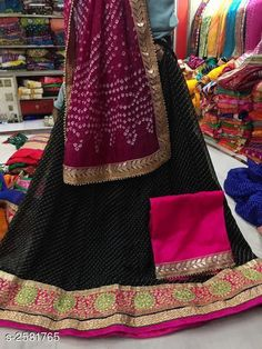 Lehengas Voguish Elegant Georegette Embroidered Lehengas Fabric: Lehenga -  Georegette   Choli - Georegette Dupatta -  Art Silk Size: Lehenga ( Waist Size ) - Up To 40 in Choli - 1 Mtr Dupatta - 2.3 Mtr  Flair - 3.5 Mtr Length: Lehenga - Up To 40 in Type: Lehenga - Semi - Stitched Choli - Un - Sttiched Description: It Has 1 Piece Of Lehanga 1 Piece Of Choli And 1 Piece Of Dupatta   Work : Lehenga - Embroidery Choli - Embroidery Dupatta - Lace Work Country of Origin: India Sizes Available: Un Stitched, Free Size, Semi Stitched *Proof of Safe Delivery! Click to know on Safety Standards of Delivery Partners- https://ltl.sh/y_nZrAV3  Catalog Rating: ★4 (4714)  Catalog Name: Tina Voguish Elegant Georegette Embroidered Lehengas Vol 1 CatalogID_348397 C74-SC1005 Code: 998-2581765-