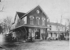 The Van Howe General Store and Inn was located on Utica Road (across from the Roseville Theater). This picture is from the early 1900s