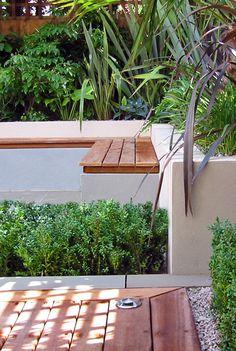 contemporary garden bench concrete