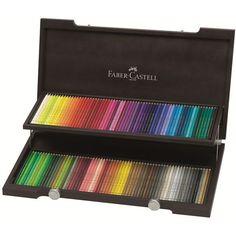Køb Faber-Castell - Polychromos - 120 farveblyanter i trækasse (110013) - Fri…