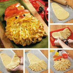 Weihnachtsmann-Brot