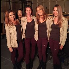 BTS: which one of these is not like the others? || Alicia Vela-Bailey, Ming-Na Wen, stunt doubles || Instagram || #cast #crew #bts