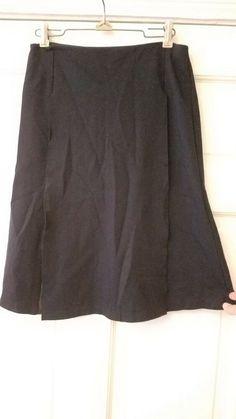 86738f81e4b212 Bailey 44 designer black w peep Faux Leather Panel Black Stretch Skirt Sz  Small #fashion