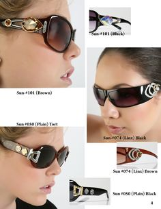 DESIGNER SUNGLASSES for the Unique and Bold and Classy Person....www.Jjansendesigns.com....Made in USA