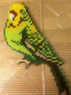 Parakeet Hama beads by Sara G-son