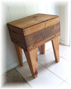 Shipping Crate TABLE Explosives Dynamite Box Upcycled and Renewed Reclaimed Wood on Etsy, $160.00