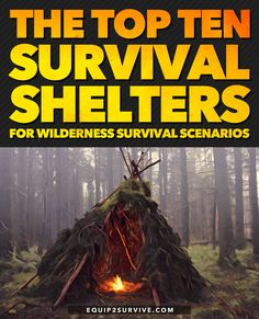 The Top Ten Survival Shelters For Wilderness Survival Scenarios - - Hacks and Ideas Survival Shelter, Wilderness Survival, Camping Survival, Outdoor Survival, Survival Prepping, Survival Skills, Camping Hacks, Camping Tools, Outdoor Camping