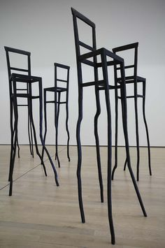 """Bronze bar stools sculpture""""Eroi"""" from Tableau Drapeau, masterpieces from the Museum of modern and contemporary art of Trento and Rovereto ..."""