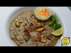 One pot Hydrabadi Haleem - By VahChef @ VahRehVah.com: Meat (boneless) 500 g, Kabab chini 2 g, Shahi jeera 2, Cardamom 8 no, Cinnnamon sticks 2 inch, Pepper corns 3 g, Cloves 2g, Cumin seeds 4g, Sesame seeds 3g, Moong daal 1 ts, Urad daal 1 ts, Masoor daal 1 ts, Chana daal 1ts, Almonds 6 no, Oats ¼ cup, Dalia (broken wheat) ½ cup, Ghee ½ cup, Green chilly 5 no, Rose petals ¼ cup, Onion chopped ½ cup, Ginger garlic paste 1 tb, Millk 1 cup, Salt, Fried onions ½ cup