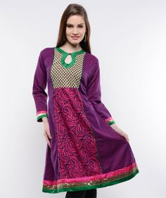 A traditional powerhouse that packs a punch, sounds like our edit of casual summer kurtis. These ethnic numbers go well with leggings or denims. From bright summer hues to ice-cream colors, these kurtis spell elegance and accentuate your curvaceous figure. So, come take a look at our rich designs and prints and take your pick. We guarantee you'll still be turning heads in this Indian attire.BRAND: NavyouCATEGORY: KurtaCOLOUR: Purple, Magenta, Beige and BlackMATERIAL: Cotton Blend