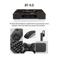 H96 H2 MAX RK3328 4GB RAM 64GB ROM 5G WIFI Bluetooth 4.0 USB3.0 Android 7.1 TV Box with Time Display 4gb Ram, Photography Camera, Walkie Talkie, Arduino, Wifi, Bluetooth, Android, Display, Electronics
