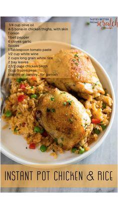 Casserole Recipes, Crockpot Recipes, Chicken Recipes, Cooking Recipes, Healthy Recipes, Instant Pot Pressure Cooker, Pressure Cooker Recipes, Dinners, Meals