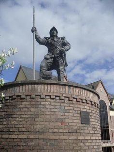 Border Reiver statue Carlisle UK