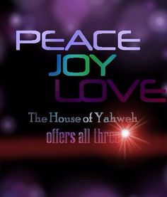 Peace, Joy, Love!
