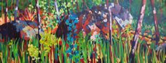 "by Mellissa Read-Devine: September 2014 ""The Place I Wait"" Acrylic, 24""x 60"" (sold)"