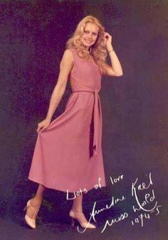 Miss Mundo 1974 - Anneline Kriel (assumiu o título) - Africa do Sul