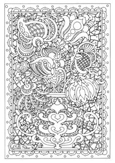 Intricate coloring pages!