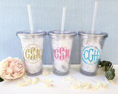 Personalized tumbler /custom insulated cup/custom tumbler/monogram cup/bachelorette favor/monogrammed bridesmaid cup/beach cup/insulated cup by CatePaperCo on Etsy https://www.etsy.com/listing/538420173/personalized-tumbler-custom-insulated