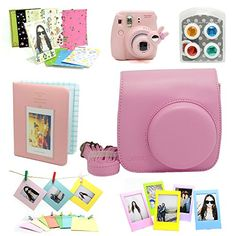 Fujifilm Instax Mini 8 Instant Camera Accessory Bundles Set (Included: Pink Mini 8 Vintage Case Bag/ Pink Hard Cover Instax Mini Book Album / Pink Rabbit Design Mini 8 Close-Up Lens(Self-Portrait Mirror)/ Colorful Close-Up Lens For Mini 8/ Wall Decor Hanging Frame/ 3 Inch Photo Frame/ Colorful Decor Sticker Borders) CAIUL http://www.amazon.com/dp/B00MXVQ7O2/ref=cm_sw_r_pi_dp_9Qjmub1PMZSM5