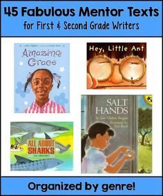 Some great mentor texts here for narrative, informational, and opinion/persuasive writing!!