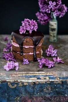 Intensely chocolatey cakes with blackberry buttercream and rich chocolate glaze. Bake in a mini sandwich tin, as cupcakes, or make a 20cm (8in) round cake.