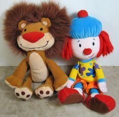 "Disney JoJo's Circus Plush 13"" JoJo and 10"" Goliath Stuffed Toys Magnetic Hands"
