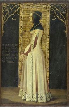 Margaret of Brabant, Countess of Flanders and Nevers (1323-68) by Arnould de Wuez