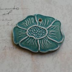 Just one of my faves. Lovely etched ceramic pendant from Marsha Neal Studio