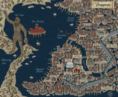 Maps of Braavos | A Song of Ice and Fire | #Fantasy #ASOIAF #GoT