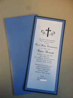 1st Communion Invitation for boy...