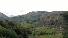 #Crete The last few days have brought fresh snow to the mountains. Fantastic romatic view.