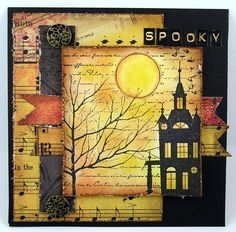 spooky halloween card - suzz's stamping spot