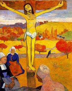 https://flic.kr/p/qjNPbf | Le Christ jaune (P Gauguin) | Huile sur toile, 91 x 73 cm, 1889, Galerie d'art Allbrigt-Knox, Buffalo (New-York).  Ce tableau religieux et champêtre a été composé d'après le Christ en bois polychrome du XVIIIème siècle de la petite chapelle de Trémalo, située à côté du village de Pont-Aven.    Dominé par la couleur jaune, un paysage automnal s'étend en arrière plan avec le village de Pont-Aven et la colline Sainte Marguerite, vue que le peintre a depuis son…