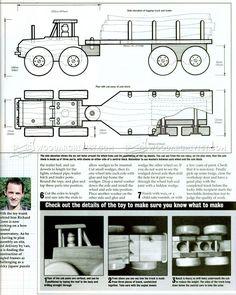 Wooden Logging Truck Plans - Wooden Toy Plans