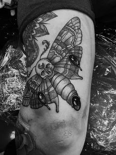 moth tattoo dotwork darkartists