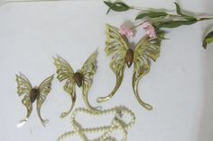 Butterfly Luna Moth Set of 3 Metal Wall Art by LuRuUniques on Etsy