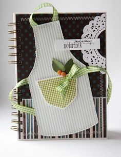would be a cute notebook for recipes or kitchen helps...or canning information...etc