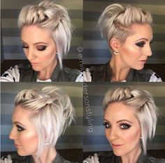 22 cortes de cabelo e penteados curtos na moda - Beliebte Frisuren - Girl Short Hair, Short Hair Cuts, Short Hair Styles, Short Girls, Short Pixie, Short Hair With Undercut, Asymmetrical Pixie, Pixie Cuts, Short Hair Tricks
