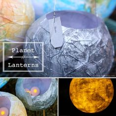 Make beautiful paper lanterns while learning about planets and the solar system. Hop over to the blog for a full step-by-step tutorial on Planet Lanterns <3