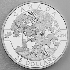 2014 $25 Under the Maple Tree 1 oz 99.99% Pure Silver Proof Coin O Canada Series