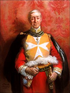"""His Excellency Fra Roggero Caccia Dominioni, Grand Prior of Lombardy and Venice for the Sovereign Military Order of Malta""  oil on canvas (2006)"