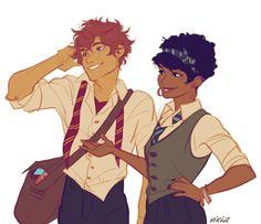 Roxanne and Fred II by viria
